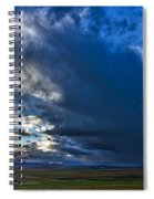 Storm Clouds Over Farmland #2 - Iceland Spiral Notebook