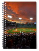 Storm Clouds Over Fenway Park Spiral Notebook