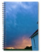 Storm Clouds Over Saskatchewan Country Church Spiral Notebook