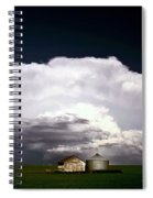 Storm Clouds Over Saskatchewan Granaries Spiral Notebook