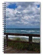Storm Clouds Over The Beach Spiral Notebook
