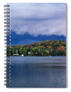 Storm Clouds Over The Lake Of Bays Spiral Notebook