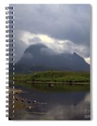 Storm Clouds Passing Across Suilven  And Fion Loch Near Ullapool Ross And Cromarty Scotland Spiral Notebook