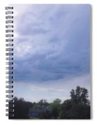 Storm Clouds Passing Through Spiral Notebook