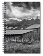 Storm In B And W Spiral Notebook