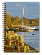 Storm Light At Mylor Bridge Spiral Notebook