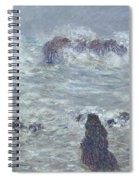 Storm Off The Coast Of Belle Ile Spiral Notebook