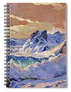 Storm On Pacific Coast Spiral Notebook