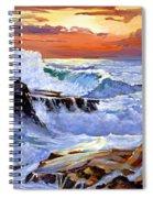 Storm On The Irish Coast Spiral Notebook