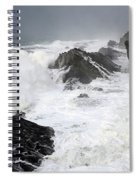 Storm On The Oregon Coast Spiral Notebook