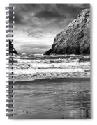 Storm On The Rocks Spiral Notebook
