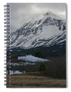 Storm On The Rocky Mountain Front Spiral Notebook