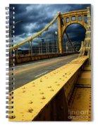 Storm Over Bridge Spiral Notebook