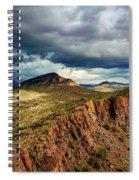 Storm Over Cliffs Spiral Notebook