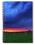 Storm Over Farm Country Spiral Notebook