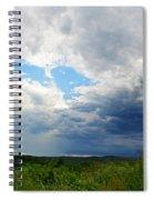 Storm Over Foothills Spiral Notebook