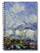 Storm Over Shore Spiral Notebook