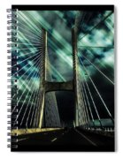 Storm Over The Bridge  Spiral Notebook