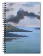 Storm Over The Lake Spiral Notebook