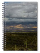 Storm Over The Mountains Of Arizona Spiral Notebook
