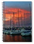 Storm Over The Newport Harbor Spiral Notebook