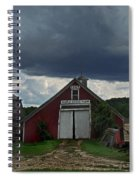 Storm Upon Maple Grove Farm Spiral Notebook