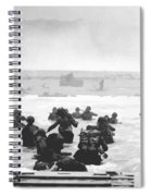 Storming The Beach On D-day  Spiral Notebook