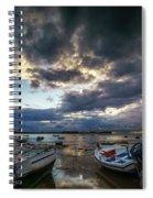 Storms At Dusk In La Caleta Cadiz Spain Spiral Notebook