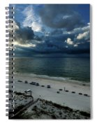 Storms Over The Gulf Of Mexico Spiral Notebook