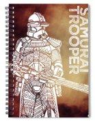 Stormtrooper - Star Wars Art - Brown Spiral Notebook