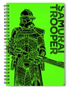 Stormtrooper - Green - Star Wars Art Spiral Notebook