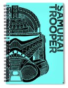 Stormtrooper Helmet - Blue - Star Wars Art Spiral Notebook