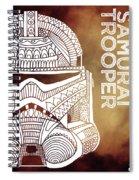 Stormtrooper Helmet - Brown - Star Wars Art Spiral Notebook