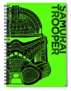 Stormtrooper Helmet - Green - Star Wars Art Spiral Notebook