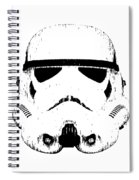 Stormtrooper Helmet Star Wars Tee Black Ink Spiral Notebook