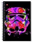Stormtrooper Mask Rainbow 10 Spiral Notebook