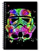 Stormtrooper Mask Rainbow 8 Spiral Notebook