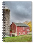 Stormy Autumn Skies Square Spiral Notebook