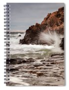 Stormy Beach Waves Spiral Notebook