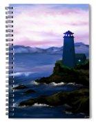Stormy Blue Night Spiral Notebook