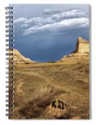 Stormy Day At Mitchell Pass Spiral Notebook