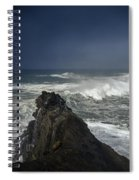Stormy Day At Sunset Bay Spiral Notebook