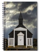 Stormy Day At The Black Church Spiral Notebook
