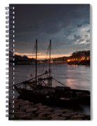 Stormy Evening Sky Above Porto And Gaia Spiral Notebook