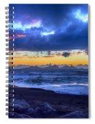 Stormy Icelandic Sunset Spiral Notebook