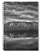 Stormy Lake Tahoe Black And White Spiral Notebook