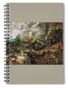 Stormy Landscape -  1625 Peter Paul Rubens Spiral Notebook