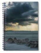 Stormy Morris Island Spiral Notebook
