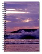 Stormy Ocean Panoramic  Spiral Notebook