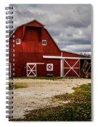 Stormy Red Barn Spiral Notebook